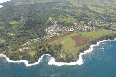 Pāpa'ikou from the Air