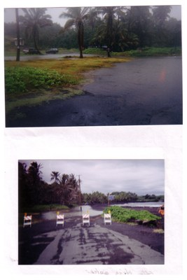 Flooding at Punaluu
