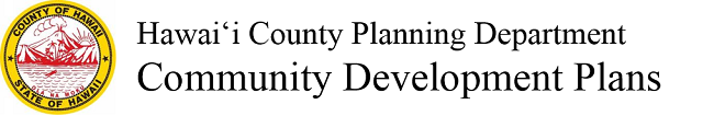 Hawaii County Community Development Plans