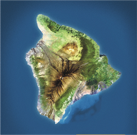 "Stylized ""satellite"" view of Big Island"
